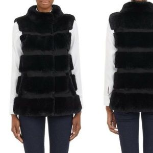 NWT DVF funnelia rabbit fur vest size XS